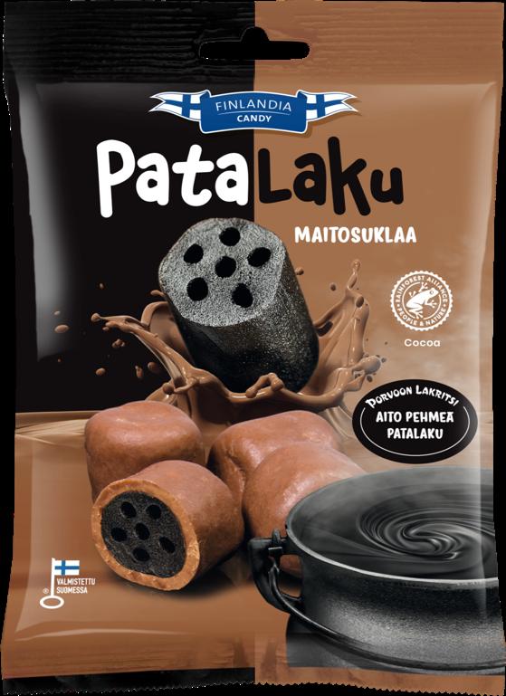finlandia candy patalaku maitosuklaa, lakritsikarkit, maitosuklaa, karkkipussi
