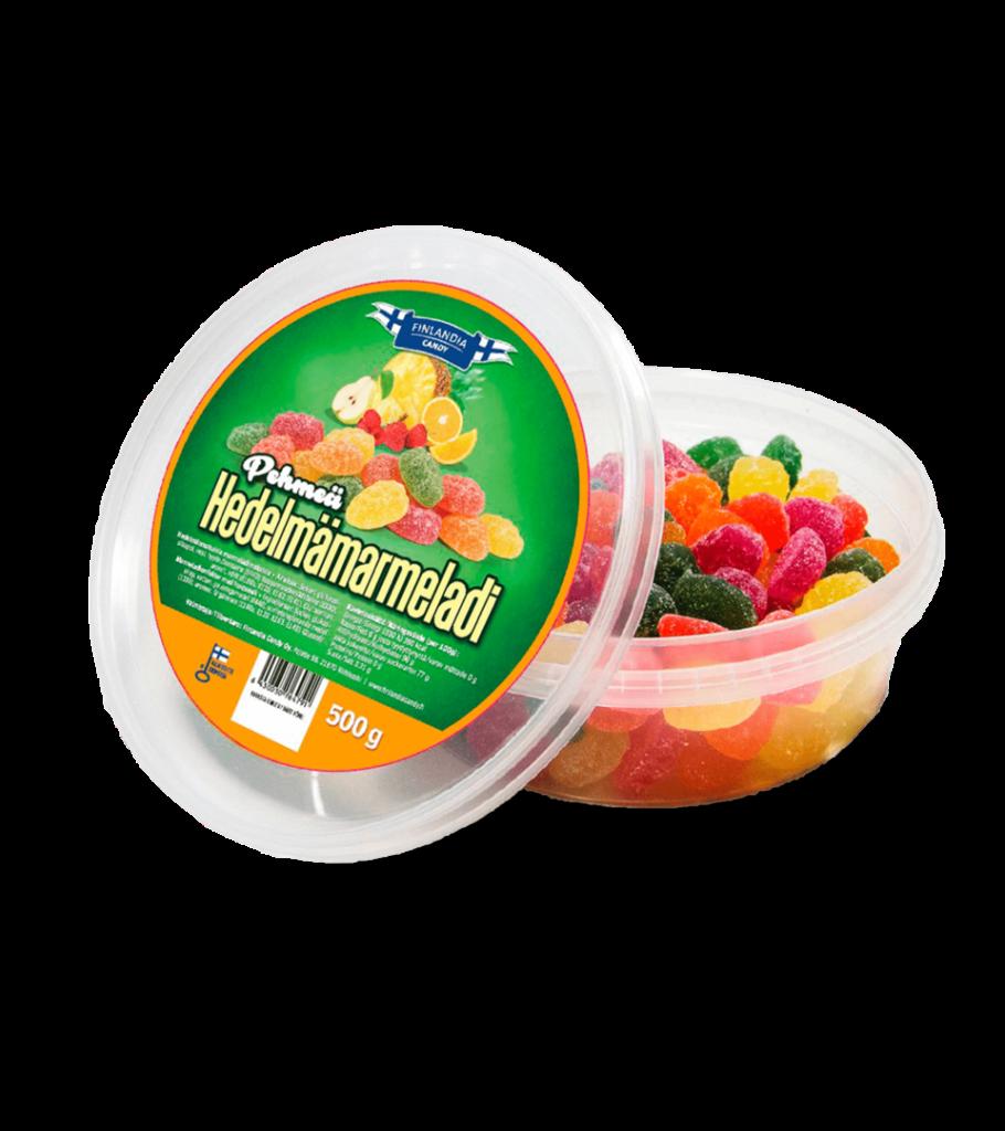 finlandia candy pehmeä hedelmämarmeladi karkki, marmeladikarkki, karkkirasia