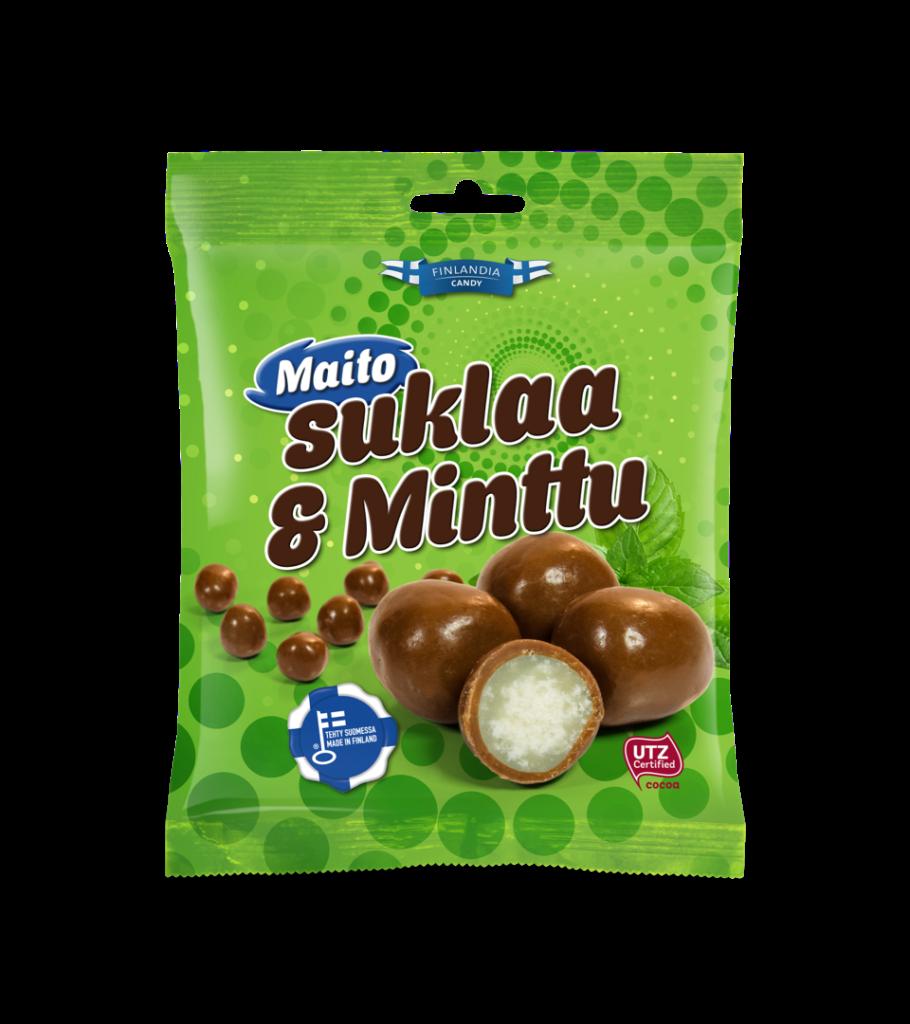 finlandia candy maitosuklaa ja minttu, minttukarkit, suklaakarkit, maitosuklaa, karkkipussi