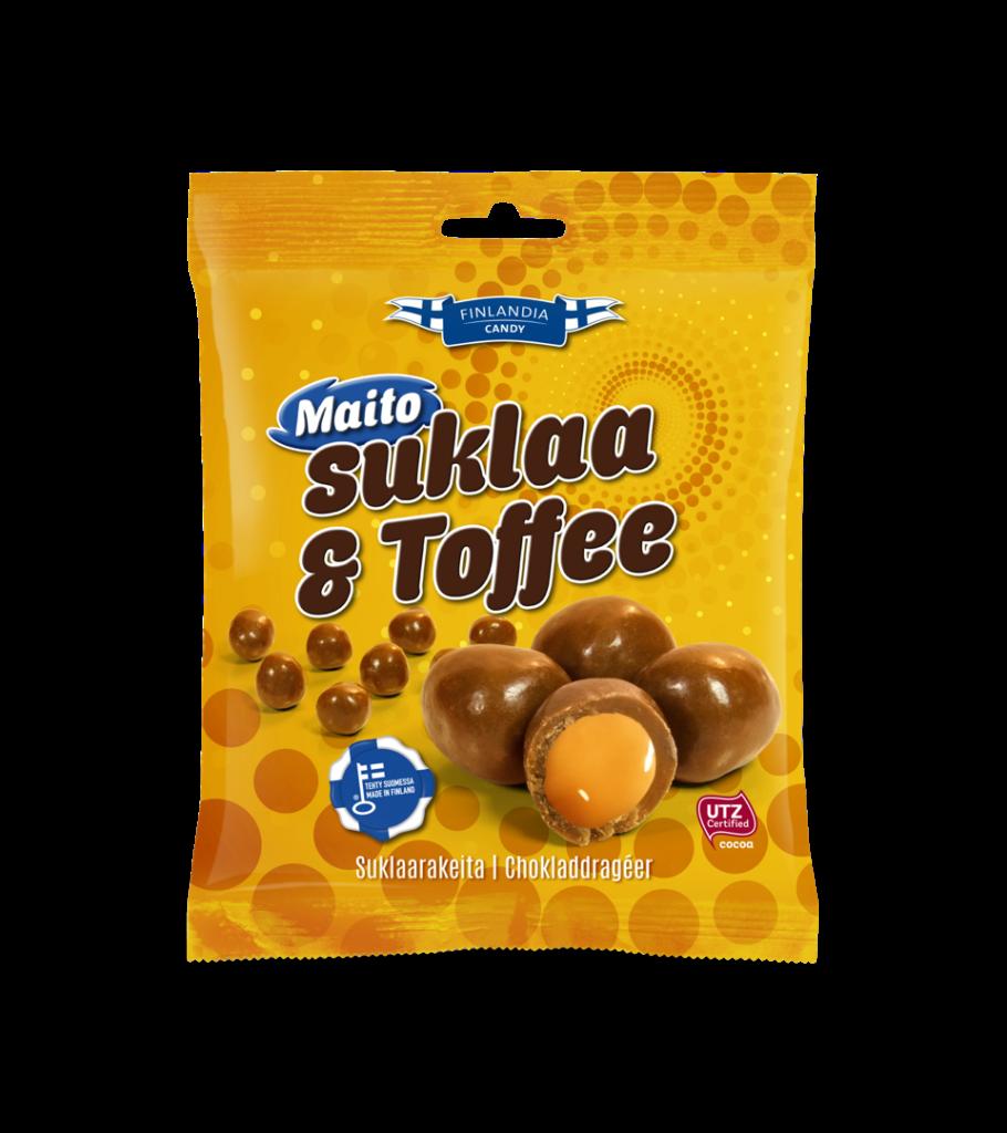finalndia candy maitosuklaa ja toffee, toffeekarkit, karkkipussi, suklaakarkit